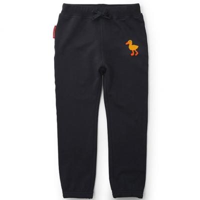 GL法國 優質萌系童趣深灰色休閒抽繩長褲