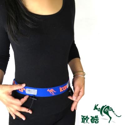 【敢酷 KANGAROO】3.3cm加寬版 運動號碼帶 (藍橘) K150324002