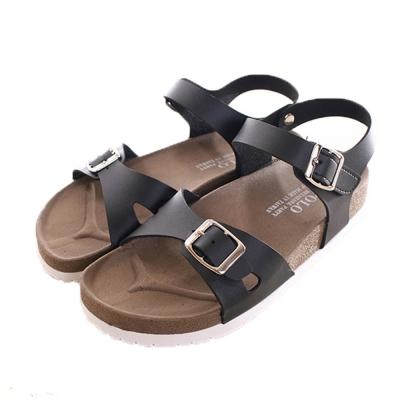 台灣製成人休閒款涼鞋 黑 sk0078 魔法Baby