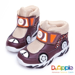 Dr. Apple 機能童鞋 超拉風急速賽車手中筒保暖童靴款 咖