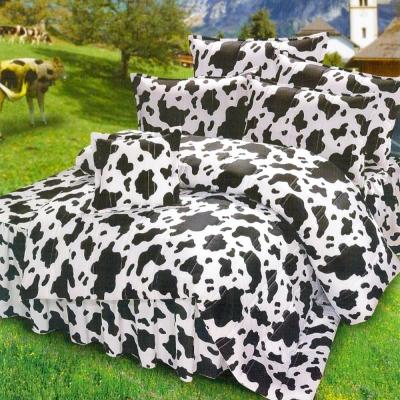 艾莉絲-貝倫 乳牛森林 高級混紡棉 雙人特大鋪棉涼被床包四件組