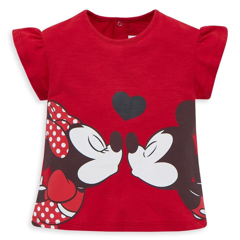 Disney 米妮系列相親相愛荷葉上衣 (2色可選)