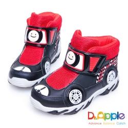 Dr. Apple 機能童鞋 超拉風急速賽車手中筒保暖童靴款 黑