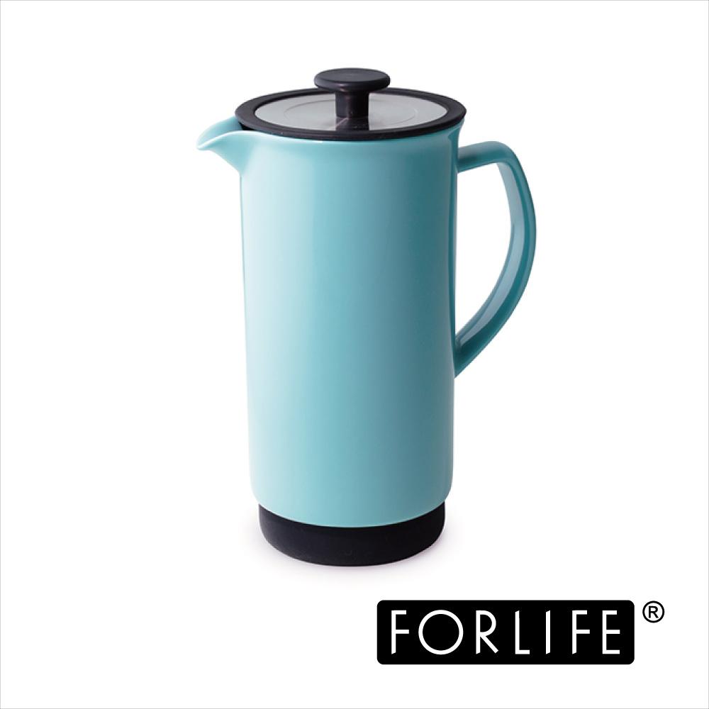 美國FORLIFE 陶瓷濾壓壺946ML-蒂芬妮藍