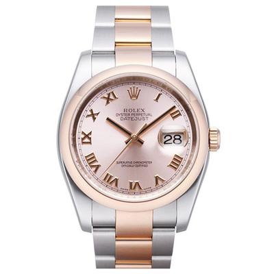 ROLEX 勞力士 116201 蠔式恆動玫瑰金羅馬數字腕錶-36mm