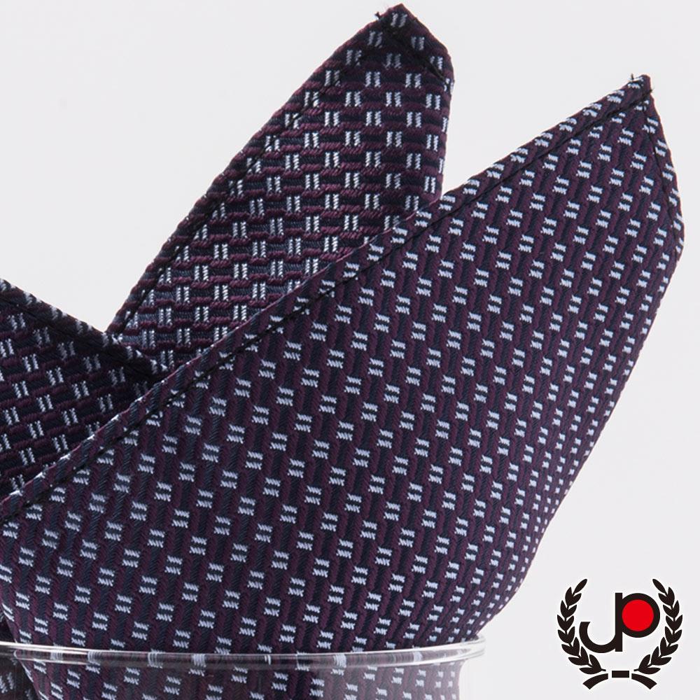 極品西服 紫/棗紅提花口袋方巾(YH5005)