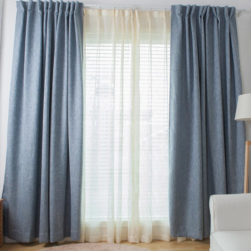 伊美居 布拉格遮光半腰窗簾 130x165cm 2件 三色可選 product image 1