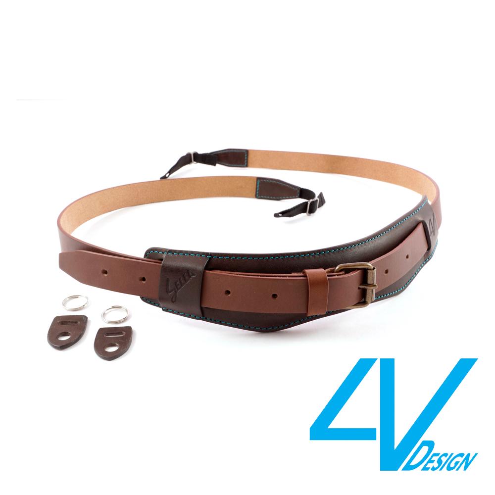 義大利4V SELLA系列相機背帶 LU-VV2423-咖啡/棕(L)