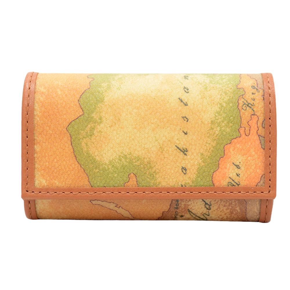 Alviero Martini 義大利地圖包 6key裝 鑰匙包-地圖黃