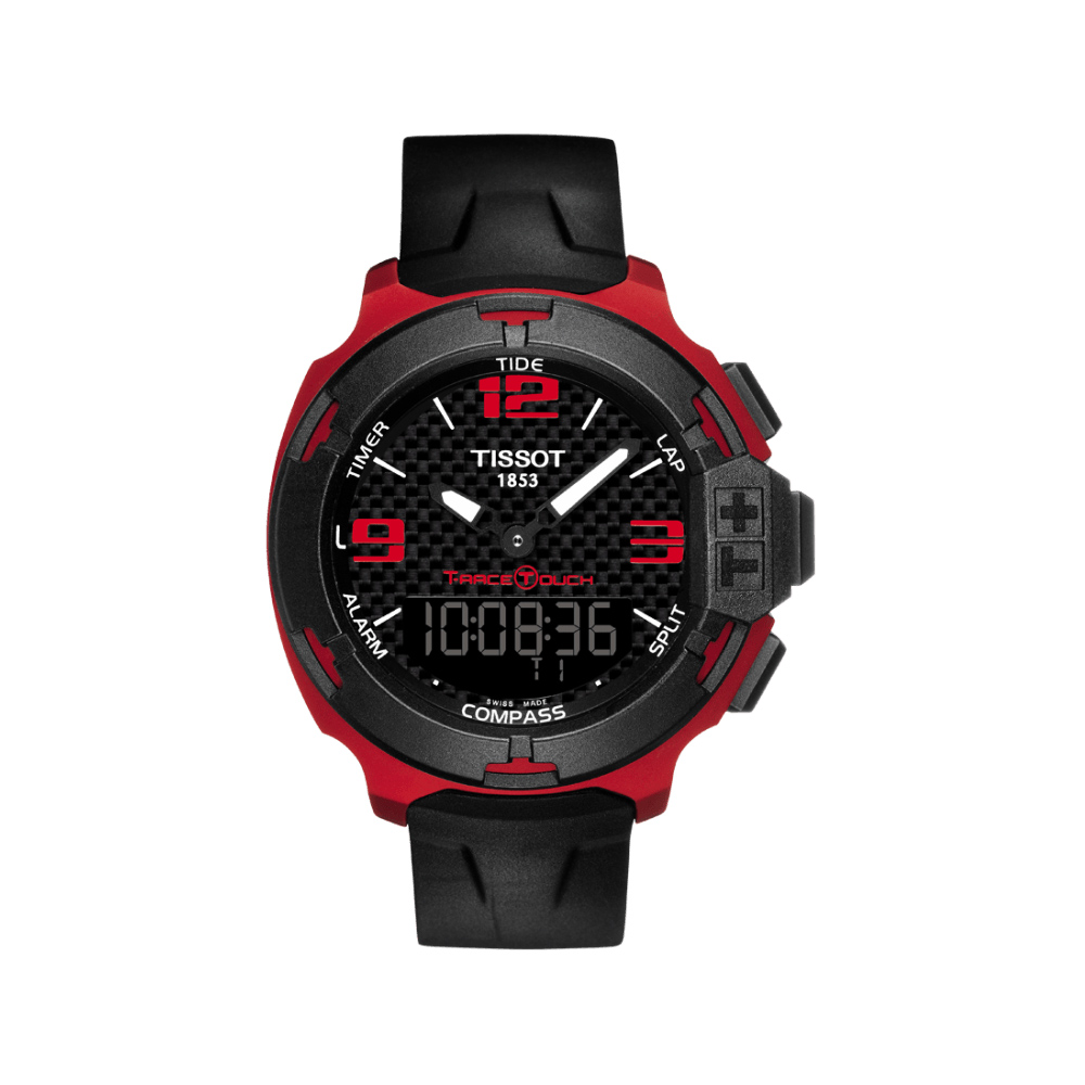 TISSOT T-RACE鋁合金碳纖維觸控錶(T0814209720700)-紅/42mm @ Y!購物