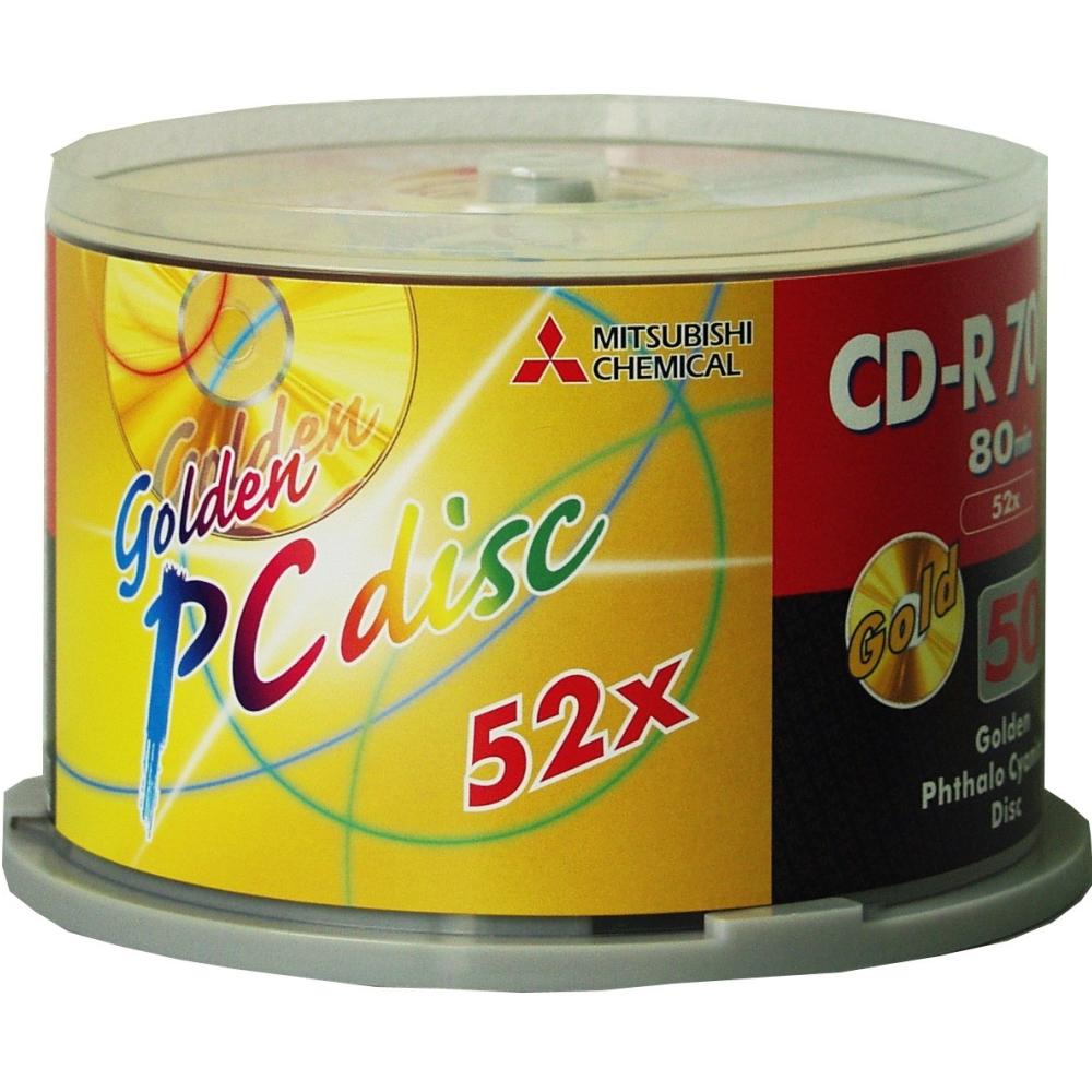 三菱 80min 52X CD-R經典白金片(50片)