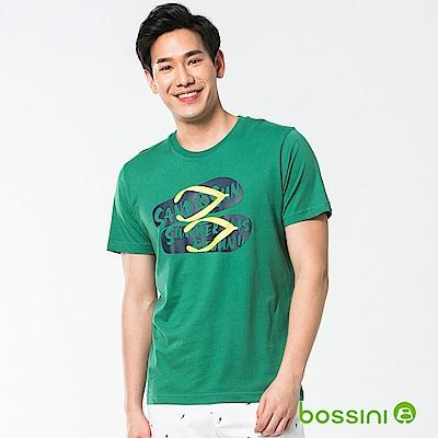 bossini男裝-印花短袖T恤36青綠