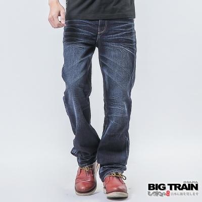 BIG TRAIN 墨達人和柄直筒-男-中藍
