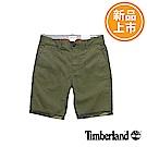 Timberland 男款綠色反折休閒短褲