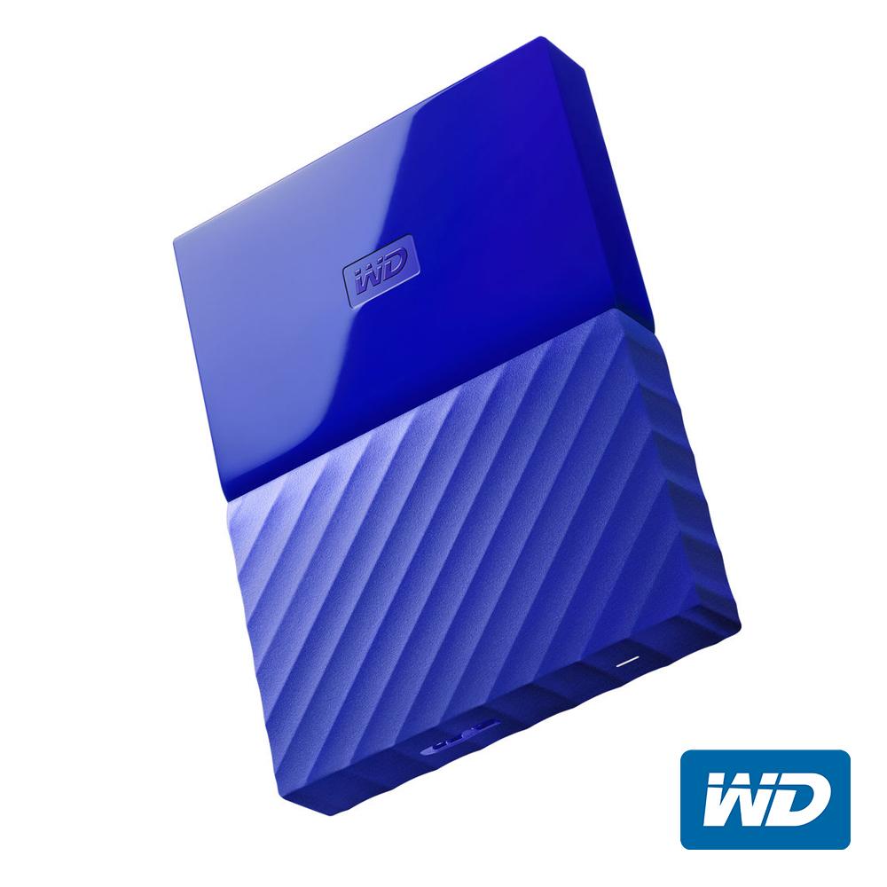 WD My Passport 2TB 2.5吋行動硬碟(藍色/薄型)