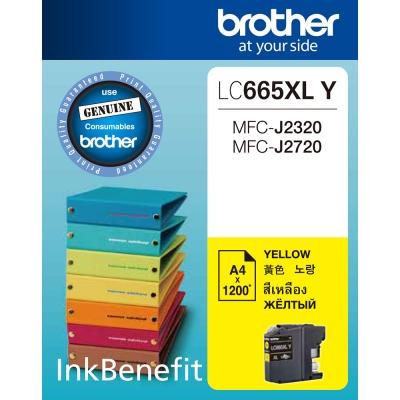 Brother LC665XL-Y 原廠黃色墨水匣