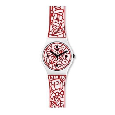 Swatch 情迷地中海  CUTOTTO 剪紙密碼手錶