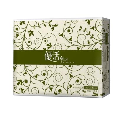 Livi 優活 抽取式衛生紙120抽12包6袋 x5箱