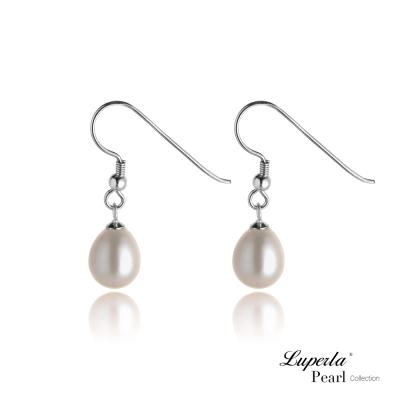 大東山珠寶 純銀晶鑽珍珠耳環-銀勾水滴