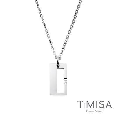 TiMISA《扣住幸福-大》純鈦項鍊(F)