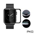 PKG Apple Watch 錶面保護貼-全滿版玻璃-黑色面板(38mm)