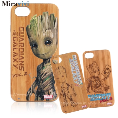 MARVEL星際異攻隊2 iPhone 6/6s(4.7)炭竹木紋雷彩繪雕雙料殼