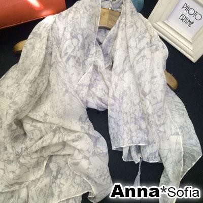 AnnaSofia-優雅大理石紋-流蘇墬大尺寸披肩