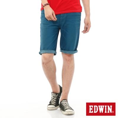 EDWIN 迦績褲JERSEYS內藏腰頭短褲-男-藍色