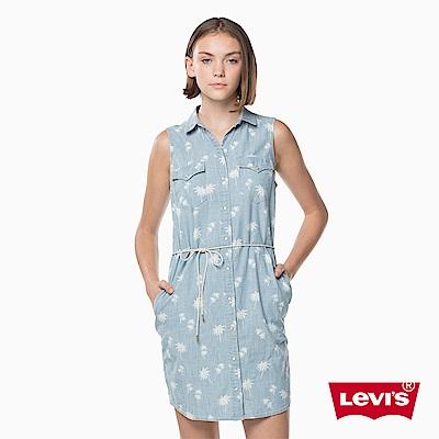 無袖牛仔洋裝 棕櫚樹印花 - Levis