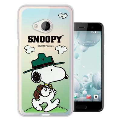 史努比 正版授權 HTC U Play 5.2吋 漸層彩繪軟式手機殼(郊遊)
