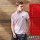 JEEP 美式休閒素面短袖POLO衫-粉色
