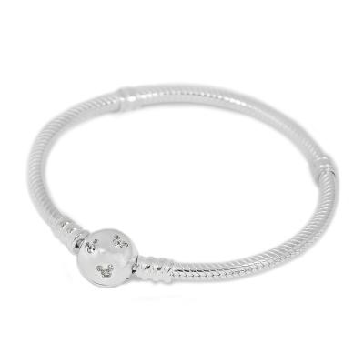 Pandora 潘朵拉 米奇鑲鋯925純銀手鍊手環