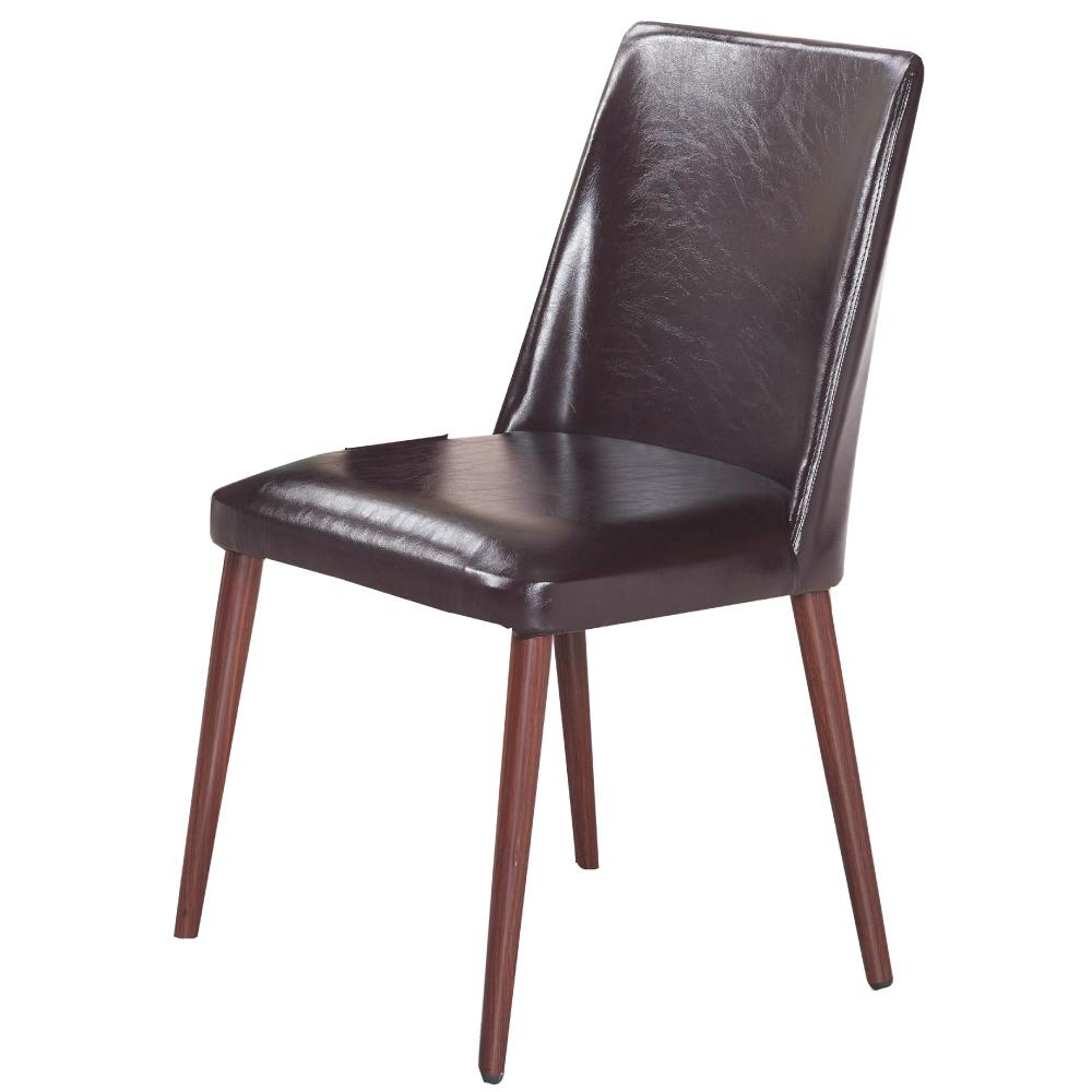 品家居 布拉格皮革實木餐椅-43x46x90cm免組