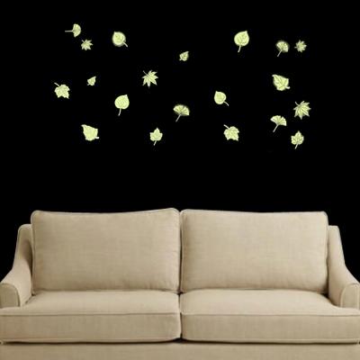 E-010創意生活系列- 樹葉夜光貼 大尺寸高級創意壁貼 / 牆貼