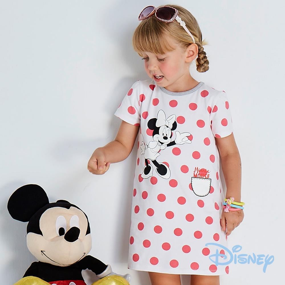 Disney 歡樂點點米妮洋裝 白色