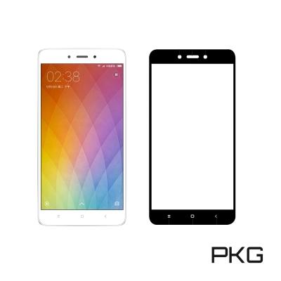 PKG 紅米Note4X 保護貼-全滿版玻璃-黑色面板