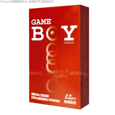 GAMEBOY 勁小子 衛生套保險套 超激點型 12入 紅(快速到貨)
