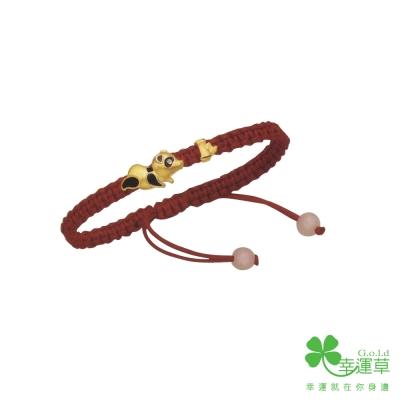 MANSTYLE 胸有成竹黃金彌月手鍊 (約0.76錢) (幸運草金飾出品)