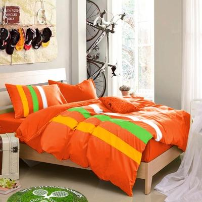 Aileen-巴西陽光-拼色運動-單人三件式被套床