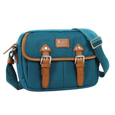 estilo - 學院系列 典雅風範 小型斜背包 - 藍綠