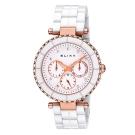 ELIXA CERAMICA陶瓷系列玫瑰金框 白色錶面/陶瓷錶帶38mm
