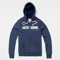 A&F 經典刺繡文字連帽外套(女)-深藍色 AF Abercrombie