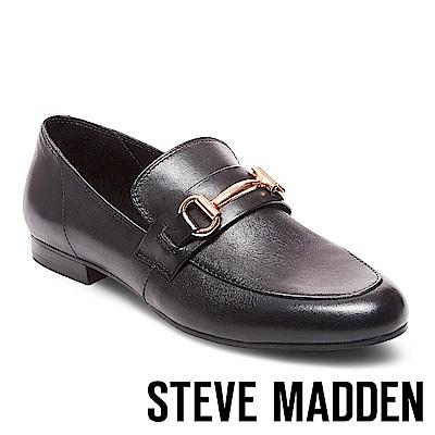 STEVE MADDEN-KERRY-WHITE-金屬扣牛津樂福鞋-黑色