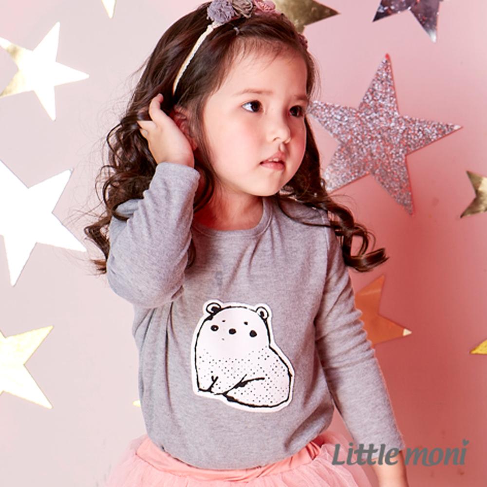 Little moni 動物印圖上衣 (共2色)
