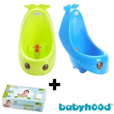 baby hood 藍鯨艾達便斗+Nac Nac 乾式嬰兒超柔細紗布毛巾*1盒