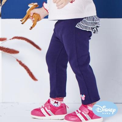 Disney baby 米妮系列荷葉女孩彈力長褲 丈青