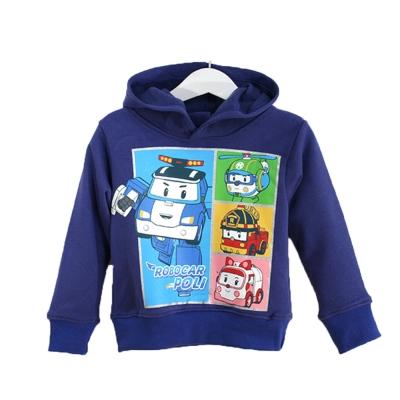 POLI厚磅暖絨連帽T恤-藍-k60308