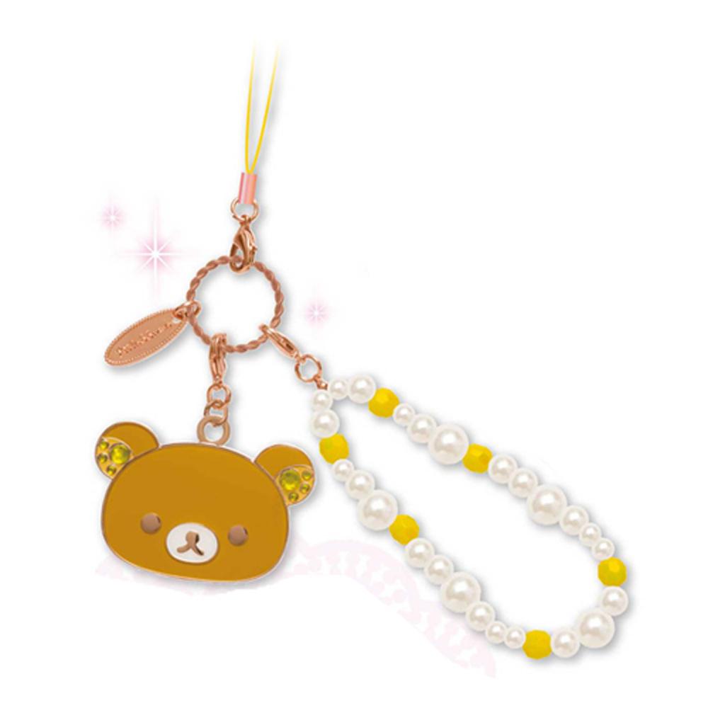 拉拉熊蛋榚派對系列華麗金屬珍珠吊飾(粉紅金)