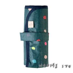 NAOMI ITO 彩虹波點尿布墊(綠)