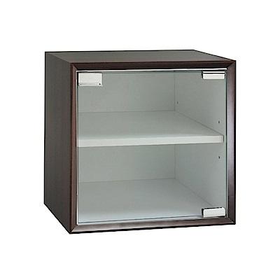 品家居 格吉1.2尺玻璃單門收納櫃(三色可選)-36x36x30cm免組